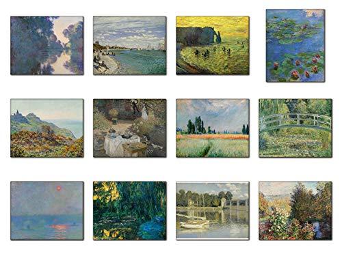 Wish Pub Kunstdrucke, ohne Rahmen, Claude Monet, 20,3 x 25,4 cm, 12 Stück 8 x 10 Inch Series #5 - 8x10 Monet