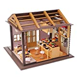 Sharplace-Kit-de-Mini-Casa-de-Muecas-Dollhouse-en-Miniatura-de-Madera-de-Bircolaje-con-Luz-Cubierta