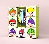Aufbewahrungsboxen, Kinder Kleiderschrank mit Kleiderstange-Toy Box