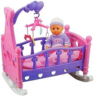 Puppen & Zubehör vidaXL Puppenwiege mit Bettwäsche Kissen Puppenbett Puppenmöbel Spielzeug# Möbel