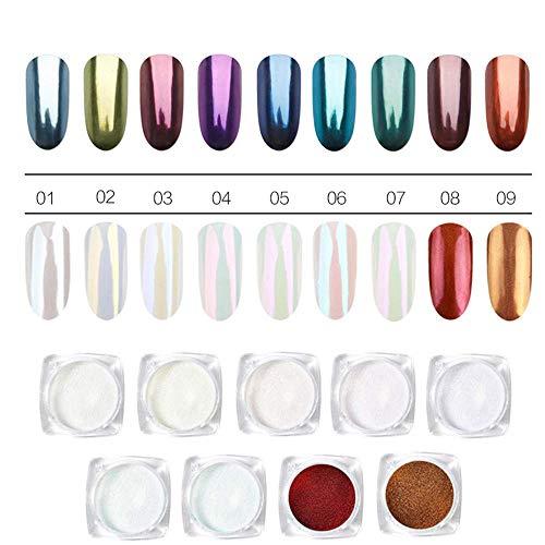ROSALIND 9 cajas/paquete polvo efecto perla decoración