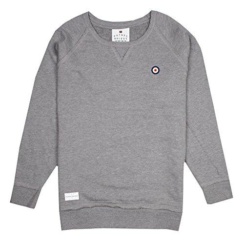 Putney Bridge (Putney Bridge Herren Classic Target Sweatshirt, Grau (Grey Marl SPO), Small)
