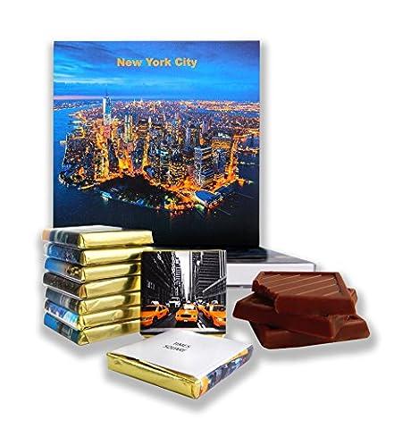 DA CHOCOLAT Candy Souvenir LA VILLE DE NEW YORK Set cadeau chocolat 13x13cm 1 boîte (Nuit)