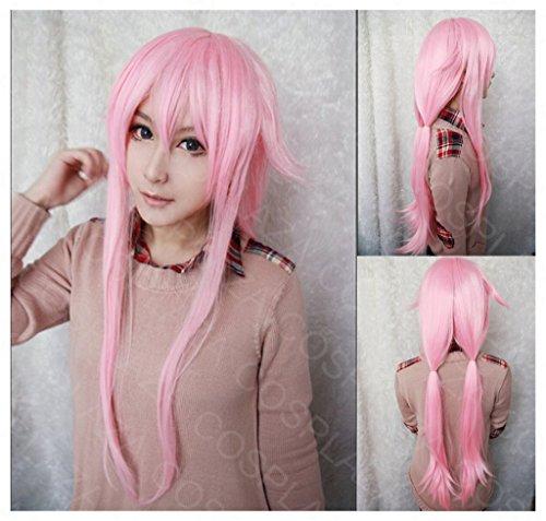 COSPLAZA Perücke Yuno Gasai Future Diary lang Pink Anime Cosplay Wig Karneval Party (Kostüm Cosplay Gasai Yuno)