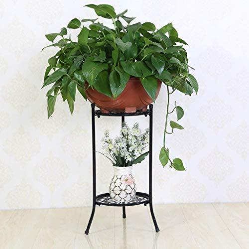 IU Desert Rose Étagère de balcon Étagère à fleurs de plancher en fer simple de style européen Étagère de salon pour balcon de salon Étagère à suspendre d'intérieur pour orchidée (24 * 30 * 50 cm Color