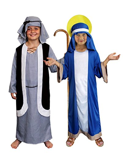 KRIPPENSPIELE WEIHNACHTS KINDER KOSTÜM FÜR MARIA +JOSEF VERKLEIDUNG -