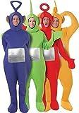 Tutti i 4 da uomo da donna da Teletubbies Teletubby con cervo costumi e feste in maschera taglia