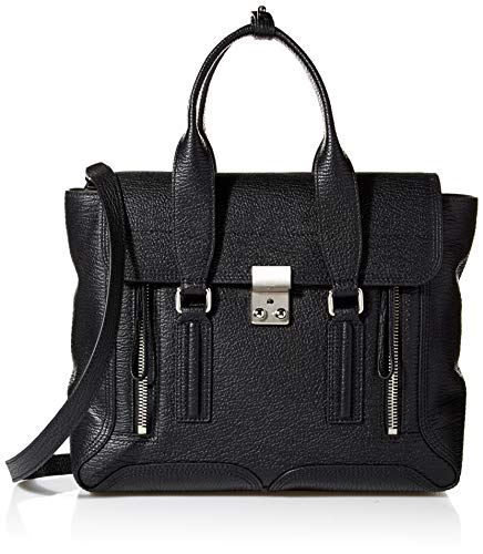 Phillip Lim 3.1 Damen PASHLI MEDIUM Satchel Ranzen, Black-Nickel, Einheitsgröße