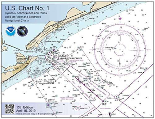 U.S. Chart No. 1 - 13th Edition: Symbols, Abbreviations and Terms used on Paper and Electronic Navigational Charts (English Edition) Marine Charts