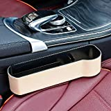 zhangyu - Scatola portaoggetti Multifunzione per Auto, con Morsetto per seggiolino Auto Beige Co-Pilot Upgrade Leather