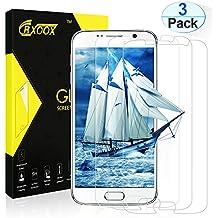 3-Unidades  Protector de Pantalla de Cristal Templado para Samsung Galaxy S6,CRXOOX Protector de Vidrio Templado,9H Dureza,Resistente a Golpes ,Arañazos,Transparencia Total , Alta Definición,Tacto Sensible y Suave