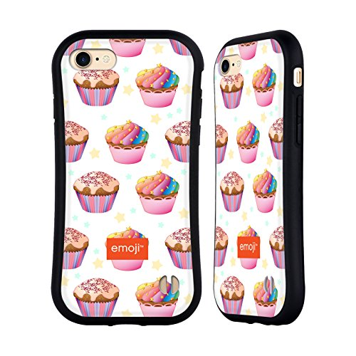 Ufficiale Emoji Unicorno Cupcakes Case Ibrida per Apple iPhone 7 Plus / 8 Plus Arcobaleno