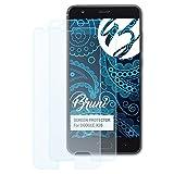 Bruni Schutzfolie für DOOGEE X20 Folie, glasklare Bildschirmschutzfolie (2X)