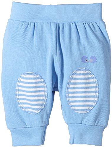 Twins Baby - Jungen Sweathose mit Kniepatches, Einfarbig, Gr. 80, blau (16-4132 - little boy blue)