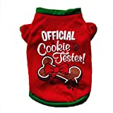 Vetement Chien Angelof Pull Chien Coton De NoëL VêTements Pour Chien Coton T Shirt Costume De Chiot (L)