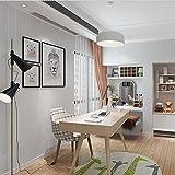 Tapeten Vlies Modern Einfach Textur 3D Einfarbig Wasserdicht Dekoration Schlafzimmer TV Wand Wohnzimmer 53 cm (W) * 10 m (L), Light Grey