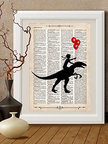 kunstdrucke-dinosauriern-reptilien-auf-antike-buchseitede008