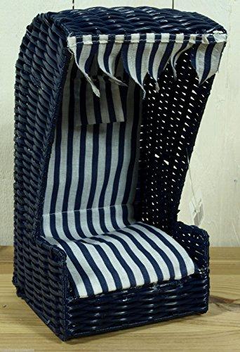 Mini Strandkorb aus Kunststoffgeflecht blau ca. 24H x 12T x 12B cm