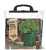 Gardman 09118 Pack of 2 Potato Tub Planters, Green