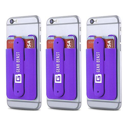 Gear Beast 3Pack Handy Brieftasche Kreditkarte ID Halter mit Ständer für Damen und Herren mit Wallet für alle Handys inklusive iPhone X 876S 6Plus Galaxy S8Plus S7S6Edge Note 85 - Für Mk Frauen Brieftaschen