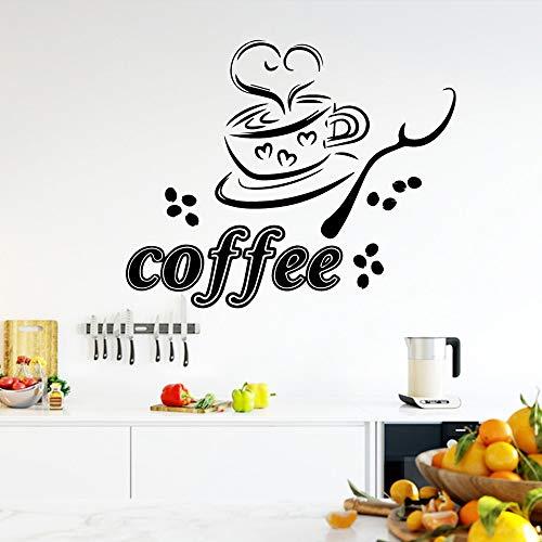 Adesivi murali caffè Fai da Te Creativo Personalizzato per Soggiorno Azienda Ufficio Scolastico Decorazione Decorazione Murales Giallo 65cm X 51cm