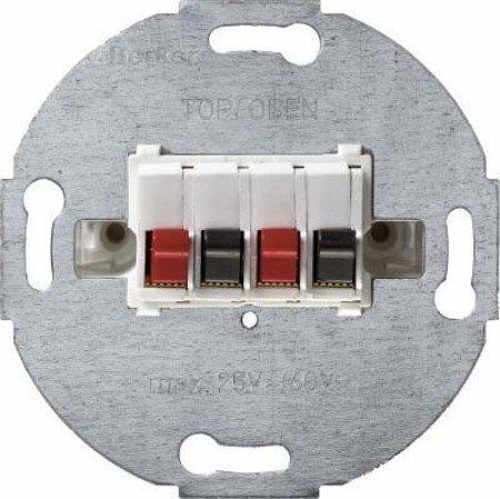 Hager BERK Stereo-Lautsprecher-Anschlussdose 457309 polarweiss, Metallisch, 1 Stück