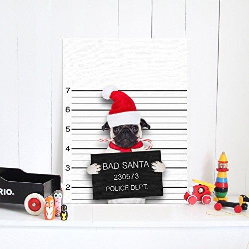 Bluelover Weihnachten 2018 Korridor Aisle Dekorative Malerei Weihnachtspuß-Dog Bar Schlafzimmer-Hintergrund-Wand Keine Rahmen Keine Rahmen - L (Halloween Tumblr Hintergrund)