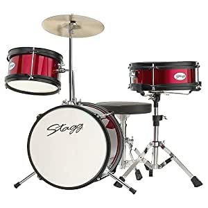 "Stagg TIM JR 3/12 RD Batterie Junior 12"" + hardware/siège 3 pièces Rouge"