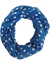 3244fad39171 FOULARD ÉCHARPE FEMME petit loop tube snood tendance by Ella Jonte á points  bleu blanc Retro - Design agréable…