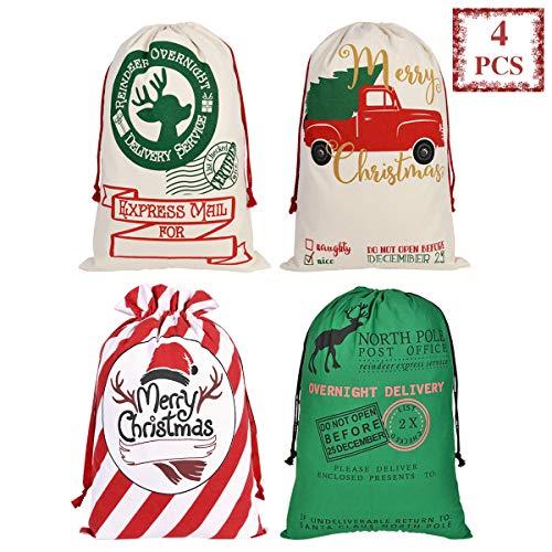 Bolsa de Navidad de Lona Bolsa de Saco de Santa