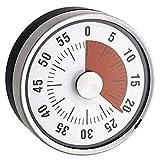 Kurzzeitwecker, mechanisch - Edelstahl - Magnetisch - Ø 6 x 3,5 cm -