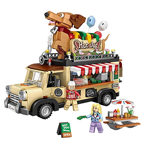 SXPC Mini Blöcke Hot Dog Auto 3D Modell Backstein Bausteine   DIY Mini Brick Assembly Diamant Nano Gebäude Spielzeug