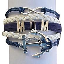Mom pulsera, infinity pulsera, convierte en el regalo perfecto para madres