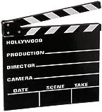 Claqueta de cine de madera, 31 x 27 cm