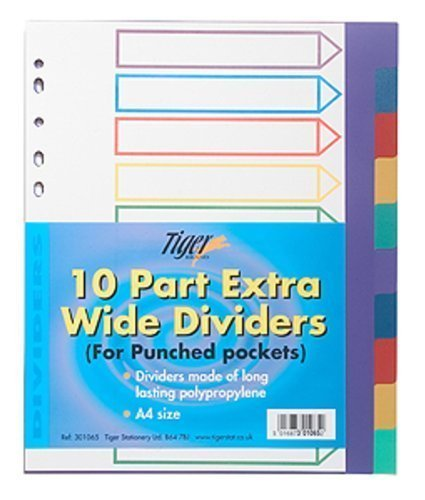 tiger-a4-10-part-extra-wide-dividers-for-punched-pockets-x-1-set-pack