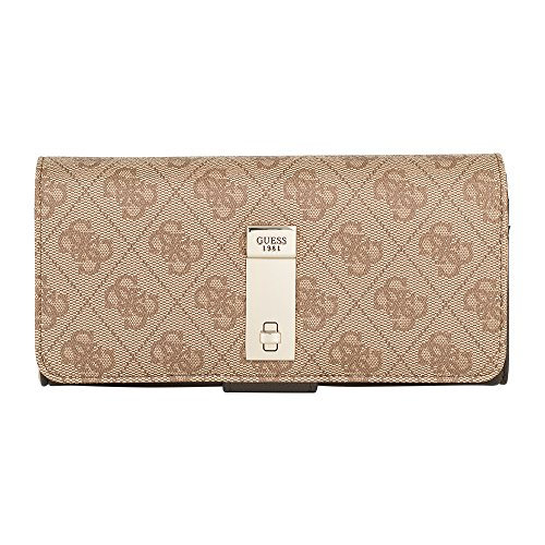 25c4bda4e2f7f GUESS - Geldbörse NISSANA SLG File Clutch brown