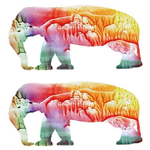 adgkitb 5 stücke Elefant Große Temporäre Tätowierung Aufkleber Wasserdicht Erwachsene Männer Frauen Schulter Zurück Gefälschte Tätowierungen SF3272 15X11 cm