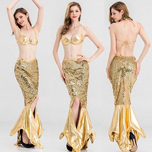 Belldan Costume Sirenetta Sirena Donna Carnevale, Little Mermaid Deluxe Womens Fancy Dress Costume Large
