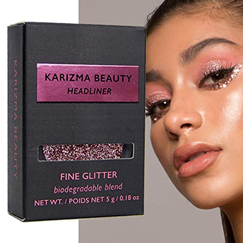 iologisch Abbaubarer Headliner // Karizma Beauty Babyrosa Bio-Glitter Eco Glitter Augenglitter Loses Lidschattenpigment 6,5 g ()