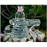 S.L Enterprises Crystal Siva Linga for Pooja (Clear)