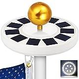 Best Flag Pole Solar Lights - 30LED Sun Solar Flag Pole Light Waterproof Flagpole Review