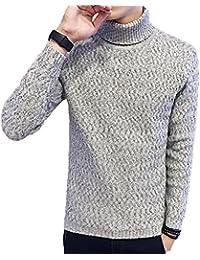 Linyuan buena calidad Mens Winter Slim Fit Warm Sweater Coat Turtleneck Knitwear Tops Jumper Sweatshirt