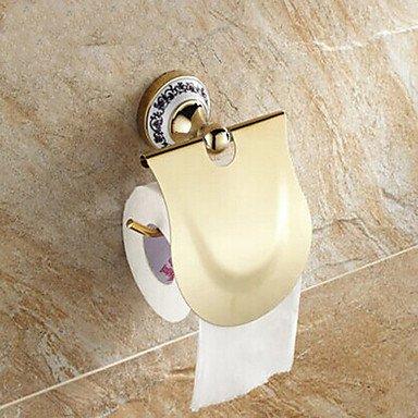 PIGE Ceramic Wall Mount Goldene Ti-PVD Toilettenpapierhalter