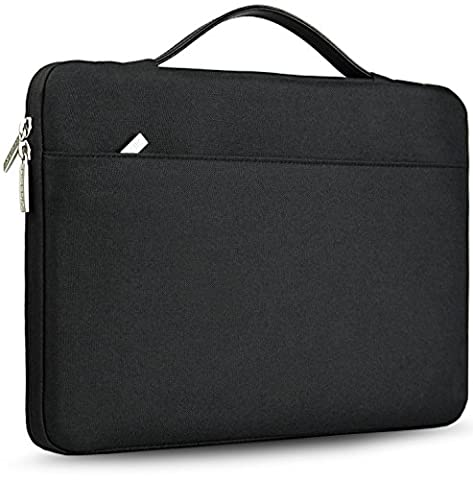 Hseok 13–33,8cm Housse pour ordinateur portable pour 33cm MacBook Air/MacBook Pro Retina/12.9iPad Pro/33- 33,8cm Apple Lenovo Dell HP ordinateur Ultrabook Sac de protection Housse de transport mallettes Sac à main, Noir noir