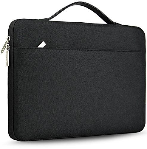 HSEOK 13-13,3 Zoll MacBook Air/Pro Aktentasche Laptop Handtasche Hülle Tasche, Stoßfeste Wasserdicht PC Sleeve für die meisten 14 Zoll Notebook UltraBook Tablet Dell/HP/Lenovo/Acer/Ausu, Schwarz