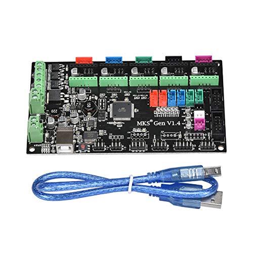 Preisvergleich Produktbild Noradtjcca 3D-Druckerteile MKS Gen V1.4 Steuerkarte Motherboard Controller-Modul Kompatible Rampen1.4 LCD2004 12864 RepRap USB-Kabel