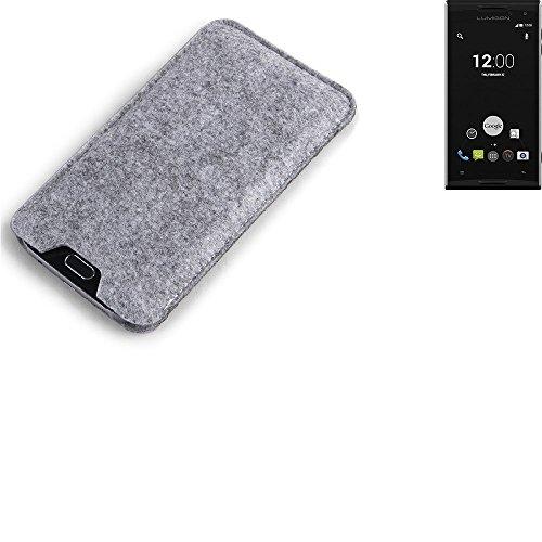 K-S-Trade Filz Schutz Hülle für Lumigon T2 HD Schutzhülle Filztasche Filz Tasche Case Sleeve Handyhülle Filzhülle grau