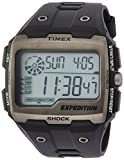 Timex Men's Quartz Watch with LCD Dial Digital Display and Black Resin Strap TW4B02500