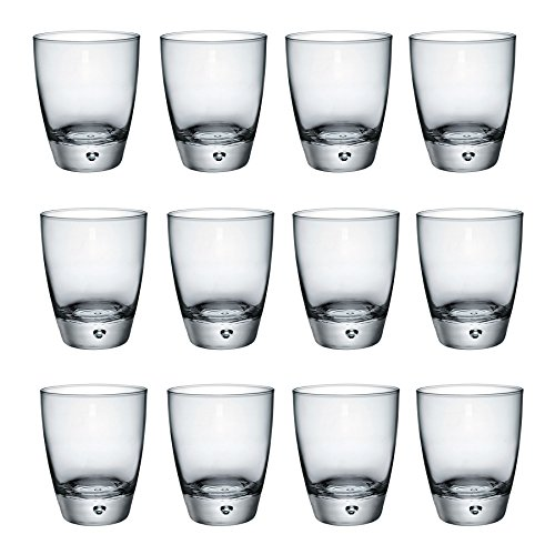 Bormioli Rocco Luna klare Kuppel Basis Double Old Fashioned Tumblers - 340ml - Packung mit 12 - 12 Double Old Fashioned Gläser