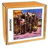 Gartenstäbe 6x Zuckerstange 100cm 60 LED für Garten Weihnachten Deko